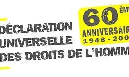 60 ème. anniversaire de la Déclaration Universelle des Droits de l'homme. Grand Orient de France