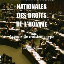 Livre Institutions Nationales des droits de l'homme.